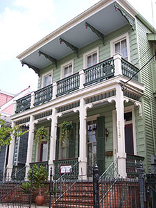 The facade at Garden District Bed and Breakfast